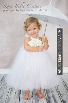 Petite Rose Flower Gir Tutu Dress OrBaptismal by KoraBelleCouture, $85.00 I just died from the cuteness!