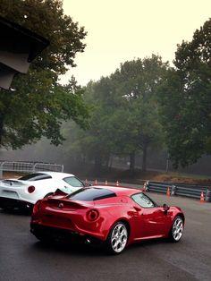 Brief Encounter on wet track Alfa Romeo 159, Alfa Alfa, Pretty Cars, Supercars, Motorcycles, Track, Dreams, Modern, Cars