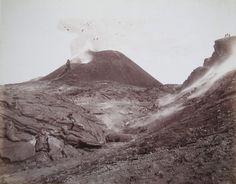 Sommer, Giorgio:  Vesuvio Cratere, 16 Aprile 1888.