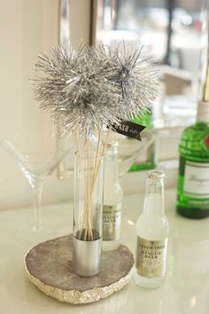 Tinsel Drink Stirrers Wedding Sparklers by LilyAmongThornsBride, $20.00