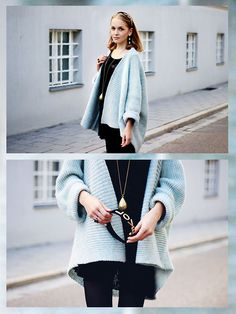"""Zara Blue Cardigan, Topshop Alice Band, All Saints Black Velvet Dress, Topshop Golden Necklace //""""Dreaming of the Past"""" by Annie W. // LOOKBOOK.nu"""