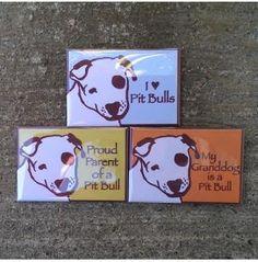 Set of Three Pit Bull Magnets, Dog Park Publishing