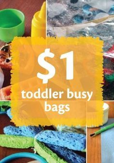 Keep toddlers busy and safe with these busy bags you can make for under $1.
