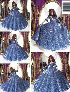 Image detail for -... Cotillion Costume Paradise Vol 94 Barbie Doll NEW Crochet PATTERN