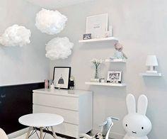 Met deze Ikea hack maak je van een Ikea Varmluft lamp een schattige wolkenlamp voor in de kinderkamer!
