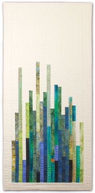 Heather Lair Designs - Art Quilts - quilting in length looks so nice Small Quilts, Mini Quilts, Baby Quilts, Quilt Art, Art Quilting, Monochromatic Quilt, Backing A Quilt, Herringbone Quilt, Landscape Quilts