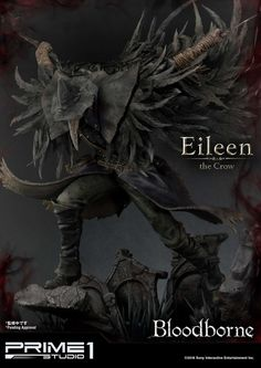 Bloodborne Eileen the Crow Statue by Prime 1 Studio Bloodborne Figure, Eileen The Crow, Crow Feather, Splash Zone, Girl Toys Age 5, Cool Toys For Girls, She Mask, Cg Artist, Sideshow Collectibles