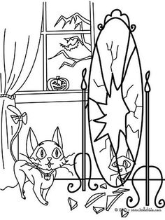 Thousands Free Printable Halloween Coloring Pages: Halloween Coloring Sheets From HelloKids.com