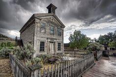 Gothic Masonic Temple 2 - Bannack Ghost Town Photograph  - Gothic Masonic Temple 2 - Bannack Ghost Town Fine Art Print