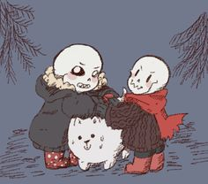 sans and papyrus - skelebros underfell