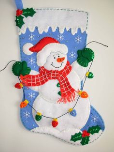 cute snowman stocking