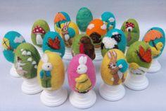 Needle Felted Egg - Lily Fairy - Easter Egg. $15.00, via Etsy.