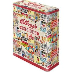 Kellogg's Collage Blechdose / Vorratsdose XL 8x19x26 cm super tolle Dose in Retro Nostalgie Design Nostalgic-Art http://www.amazon.de/dp/B00BFCIE3M/ref=cm_sw_r_pi_dp_cjqdwb1MQT1KX