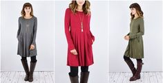 If you don't own this tunic dress you definitely need it! Flattering waist, pockets and only $19.99!