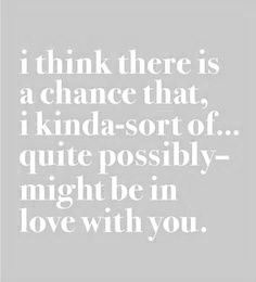 No chance!! I am! Completely and utterly; head over heels; undeniably; irrevocably insanely; whole-soulfully in love with you!!!!!!!!!!!! #love