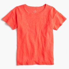 J.Crew Womens Relaxed Linen T-Shirt (Size XS)