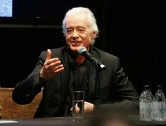 Jimmy Pagespeaks onstage as John Varvatos celebrates the launch of 'JIMMY PAGE By Jimmy Page' at John Varvatos 315 Bowery Boutique, NYC, November 6, 2014.