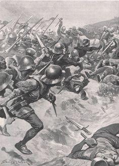 British Battles on Land & Sea illustration