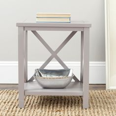 Safavieh Cadence Grey Cross Back Table - Overstock Shopping - Great Deals on Safavieh Coffee, Sofa & End Tables