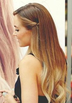 hair styles for long hair - Dip dye and curls