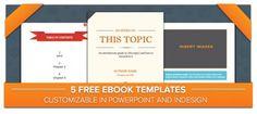 5 plantillas gratuitas para crear tu libro electrónico. #libroselectronicos #ebooks