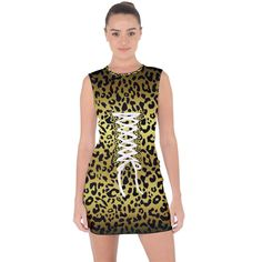Gold and black, metallic leopard spots pattern, wild cats fur Lace Up Front Bodycon Dress Leopard Spots, Style Fashion, Metallic, Bodycon Dress, Lace Up, Fur, Formal Dresses, Cats, Fabric