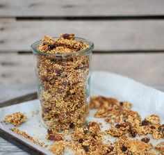 Nutrition Stripped | Sweet Sprouted Millet Granola | http://nutritionstripped.com
