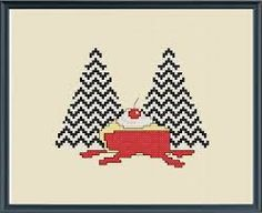 twin peaks cross stitch - Google Search