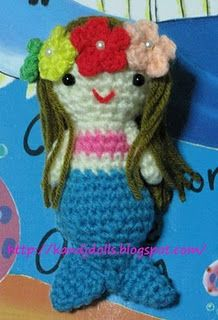 free mermaid crochet pattern...so cute♥