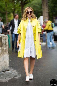 Naseebs popping yellow. Paris. #NasibaAdilova