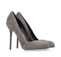 Grey suede pumps by Sergio Rossi. #heels #understated