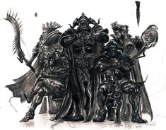 View an image titled 'International Zodiac Job System Judges Art' in our Final Fantasy XII art gallery featuring official character designs, concept art, and promo pictures. Artwork Final Fantasy, Final Fantasy Iv, Fantasy Concept Art, Fantasy Armor, Fantasy Series, Fantasy World, Illustrations, Illustration Art, Dragons