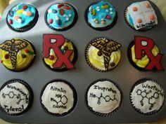 Pharmacy themed cupcakes