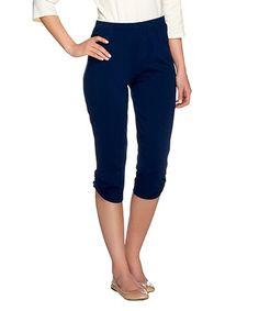 This Sapphire Stretch Capri Leggings - Plus Too is perfect! #zulilyfinds
