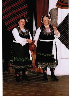 Bulgarian Thrace Grandmothers in traditional folk dress