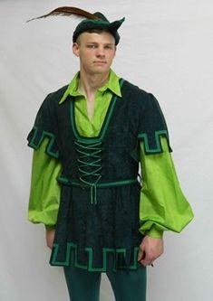 Robin Hood y Chicas en el vestuario de madera Panto de alquiler, Panto Dame Alquiler de Trajes para Robin Hood y Chicas en las pantomimas de madera