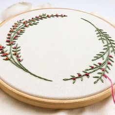 Embroidered wreath