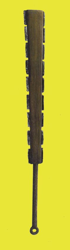 Maquahuitl, the Mesoamerican slashing weapon. The stock was usually oak, the blades were of volcanic obsidian. Aztec Empire, Inca Empire, Obsidian Blade, Sword Fight, Survival Weapons, Mexica, Mesoamerican, Arm Armor, Cold Steel