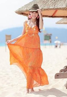 Orange Chiffon Roman