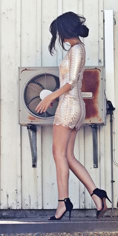 Bling Dynasty Gold Sequin Dress.