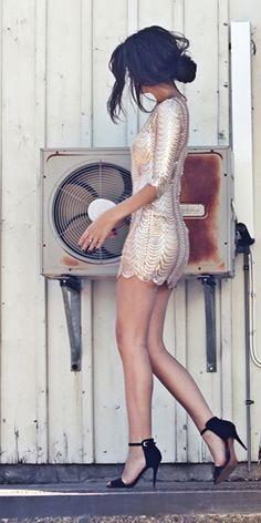 Bling Dynasty Gold Sequin Dress