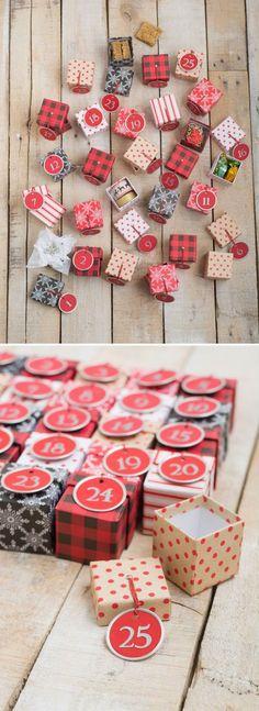 DIY Advent Calendar with Mini Boxes