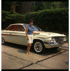 Mom & 1961 Chevy Impala, ca. 1961 | From my dad's negatives.… | Flickr