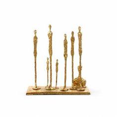 Gold Leafed Iron People Statue - Mecox Gardens #interiordesign #home #decor #design #accessories #MecoxGardens