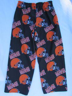 Cleveland Browns pajama cotton pants by livenlovecreations on Etsy Cotton Pyjamas, Cotton Pants, Pajama Bottoms, Cleveland Browns, Brows, Trending Outfits, Swimwear, Etsy, Fashion