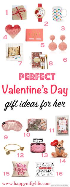 The perfect roundup of Valentine's Day gift ideas for her. Find amazing gifts for your wife, girlfriend, fiancé here. #valentinesdaygift  #giftideas #giftsforher #couples