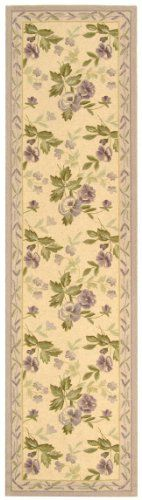 Safavieh Chelsea Collection HK54A Hand-Hooked Ivory Premium Wool Area Rug