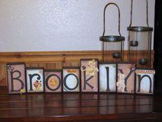 BABY LION KING NURSERY DECORATIONS | , Nursery Name, Girl Blocks, Boutique Blocks, Nursery Decor, Baby ...