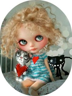 Blythe and cat