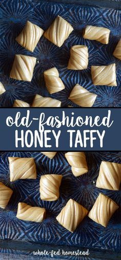 Old-Fashioned Honey Taffy Recipe - Whole-Fed Homestead - Old-Fashioned Honey Taffy Recipe – Honey Cream Pulled Taffy Homemade Taffy, Homemade Candies, Honey Recipes, Sweets Recipes, Healthy Recipes, Honey Taffy Recipe, Home Made Candy, Honey Dessert, Honey Candy